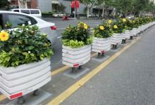 PVC道路花箱护栏