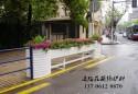 中山公园景观改造花箱护栏